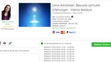 Astralreisen Online-Ausbildung